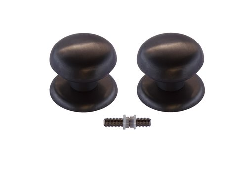 Vaste deurknop 'Top 805'  carbon black paar voor glas