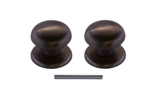 Vaste deurknop 'Top 805'  carbon black paar voor hout