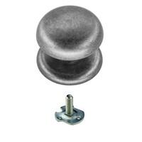 Vaste  deurknop 'Top 805' Old Silver voor éénzijdige montage