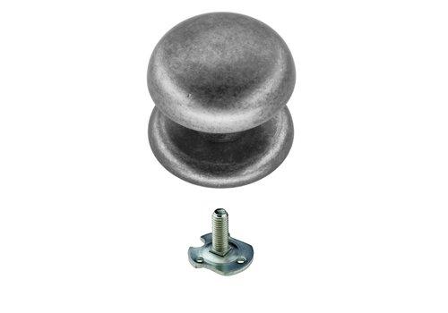 Vaste  knop 'Top 805' Old Silver