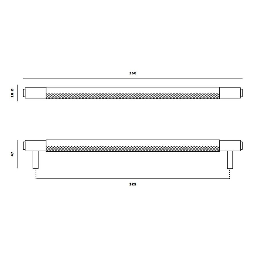 Pull bar / Small 160mm / Steel / Buster+Punch