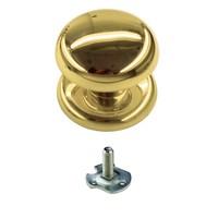 Vaste  deurknop 'Top 805' koper  voor éénzijdige montage