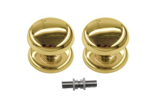 Vaste deurknop 'Top 805'  koper paar voor glas