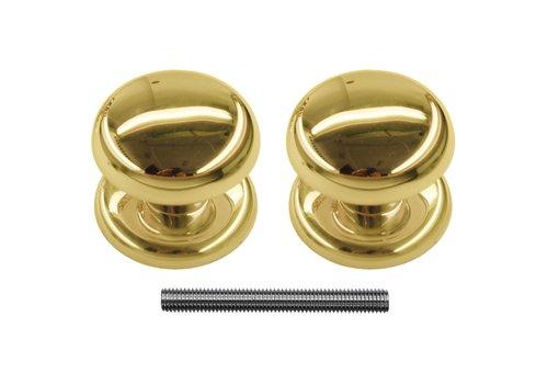 Vaste deurknop 'Top 805' koper paar voor hout
