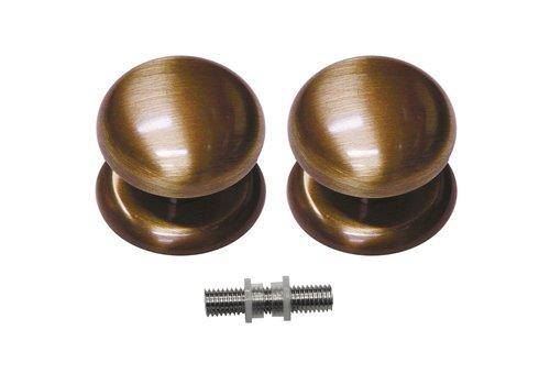 Vaste deurknop 'Top 805'  Brons paar voor glas