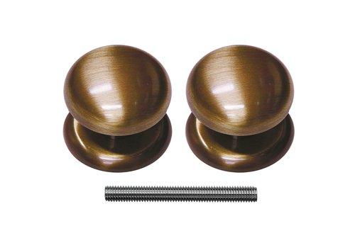Fixed doorknob 'Top 805' Bronze pair for interior doors
