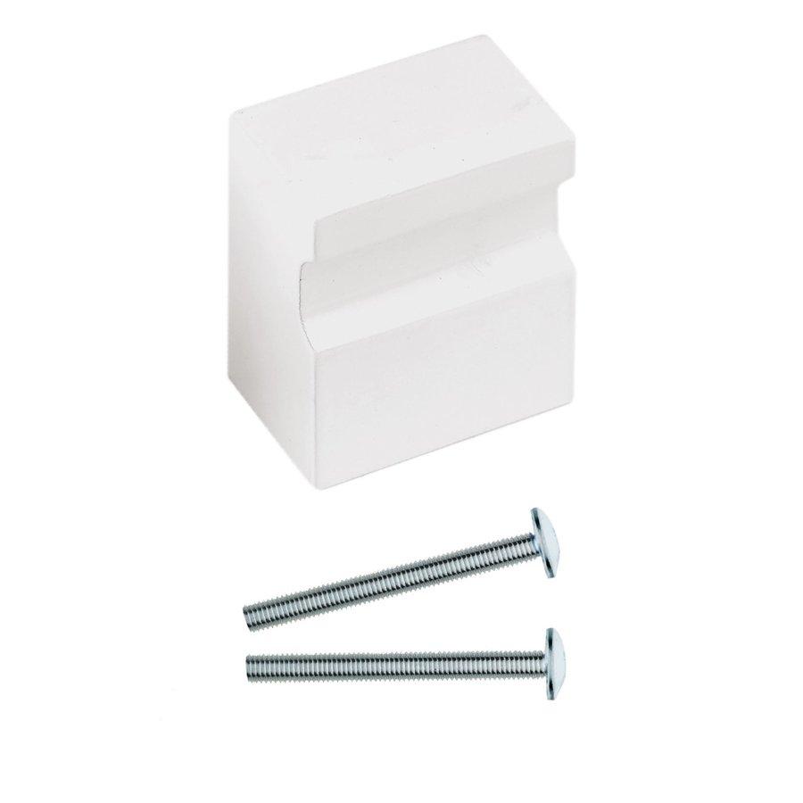 Vaste deurknop X-Treme wit voor binnen