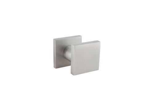 Aluminium voordeurknop vierkant 60x60mm
