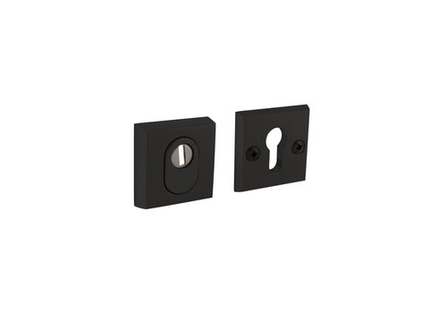 Black safety rosette skg3 square with core pull protection aluminum