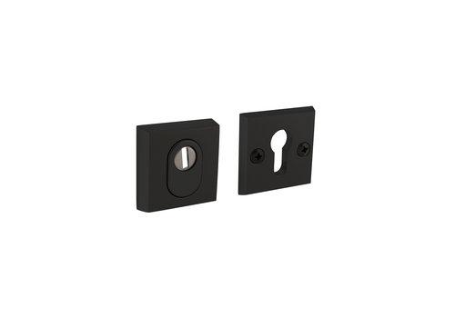 Intersteel Rosace de sécurité skg3 carrée avec protection anti-traction en aluminium noir