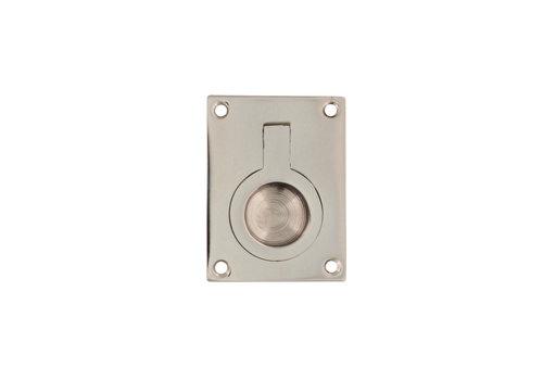 Intersteel Hatch ring rectangular 50 x 39 mm nickel
