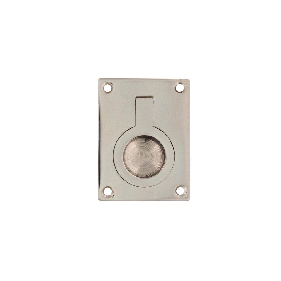 Intersteel Luikring rechthoekig 41 x 31 mm nikkel