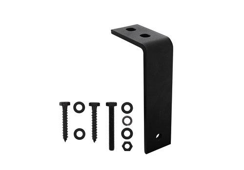 Intersteel Lot de 5 supports de plafond pour système de porte coulissante noir mat