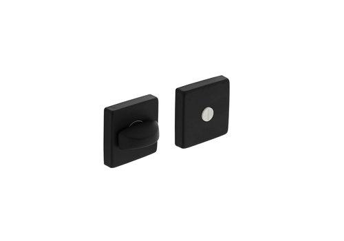 Intersteel Rosette toilet / bathroom closure 50x50x10 mm aluminum black