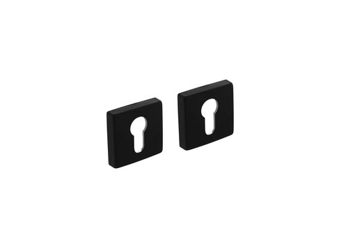 Intersteel Rozet profielcilindergat 50x50x10 mm aluminium zwart