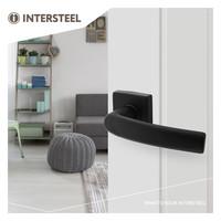 Intersteel Deurkruk Denham op rozet 50x50x10 mm aluminium zwart