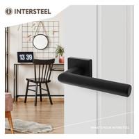 Intersteel Deurkruk Broome op rozet 50x50x10 mm aluminium zwart