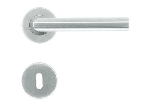 """RVS deurklinken I Shape """"class 3"""" met sleutelplaatjes"""