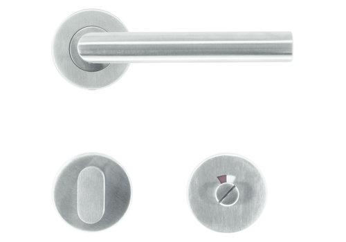 """RVS deurklinken I Shape """"class 3"""" met WC garnituur"""