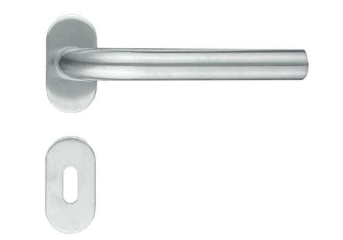 """RVS deurklinken profiel """"L Shape"""" met sleutelplaatjes"""