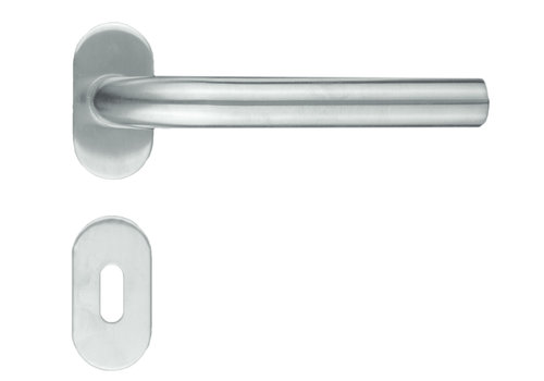 """Stainless steel door handles profile """"L Shape"""" with key plates"""