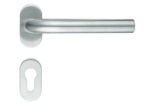 """Stainless steel door handles profile """"L Shape"""" with PZ"""