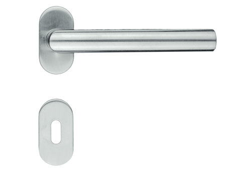 """Stainless steel door handles profile """"I Shape"""" with key plates"""