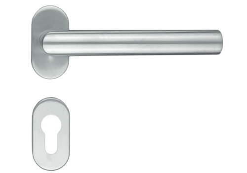 """Poignées de porte en acier inoxydable profil """"I Shape"""" avec PZ"""