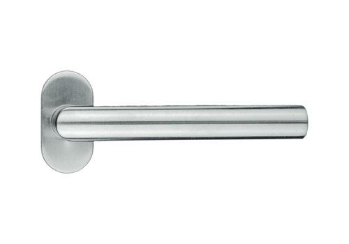 """RVS deurklinken profiel """"I Shape"""" zonder sleutelplaatjes"""