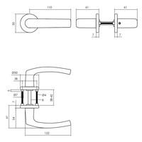 Intersteel Deurkruk Denham op rozet Ø50x7 mm aluminium zwart