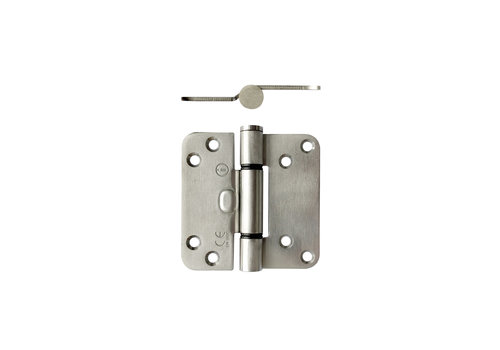 Intersteel Glijlagerscharnier 89 x 89 x 3 mm DIN rechts/links rvs geborsteld
