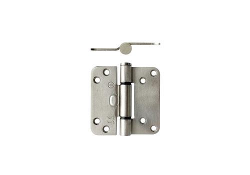Intersteel Plain bearing hinge 89x89x3 mm Brushed stainless steel
