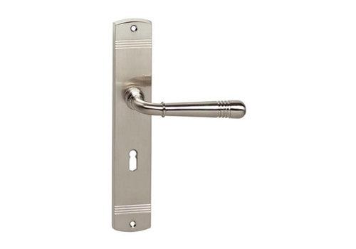 Intersteel Emily door handle on shield keyhole 56 mm nickel matt
