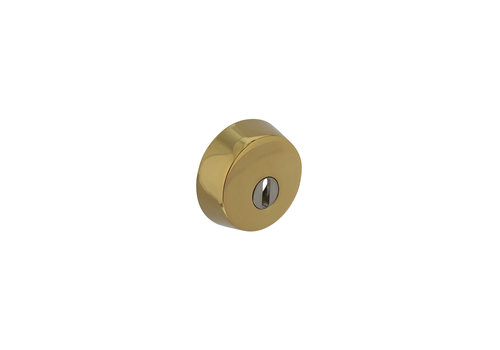 Security rosette SKG3 for rim locks with core pull protection brass PVD