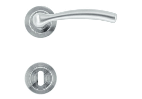 Massieve rvs look deurklinken Easy met sleutelplaatjes