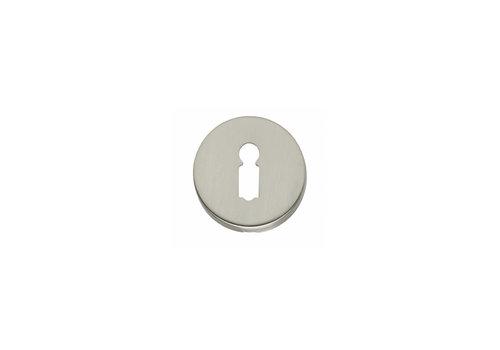 1 Rozet met sleutelgat rond verdekt nikkel mat