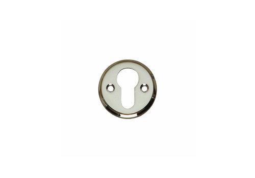 1 Rosette profile cylinder hole screw hole nickel