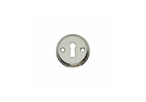 1 Rosette keyhole screw hole nickel