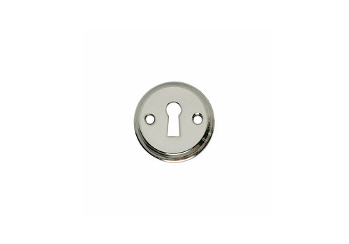 1 Rozet sleutelgat schroefgat nikkel