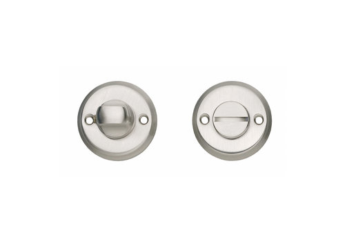 Intersteel Rosette toilet/bathroom closure screw hole nickel matt