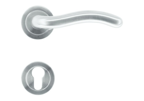 """Stainless steel door handles """"Fly"""" with PZ"""