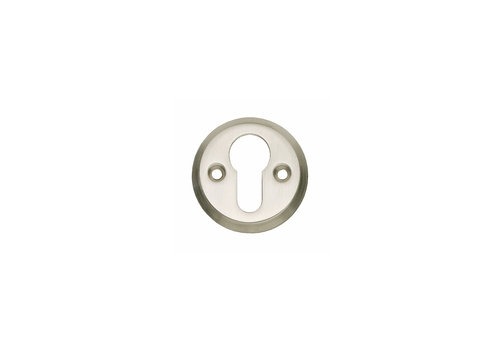 1 Rosette profile cylinder hole screw hole nickel matt