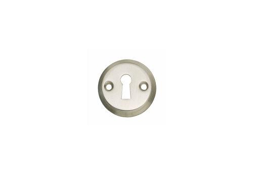 1 Rosette keyhole screw hole nickel matt