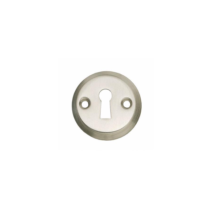 1 Rozet sleutelgat schroefgat nikkel mat