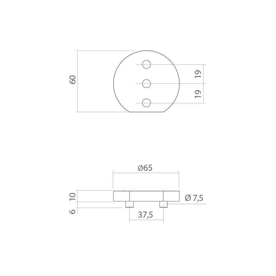 Verhogingsschijf 10mm tbv deurstop 0035.442100
