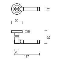 """Solid stainless steel look door handles """"Vito"""" with cylinder plates"""