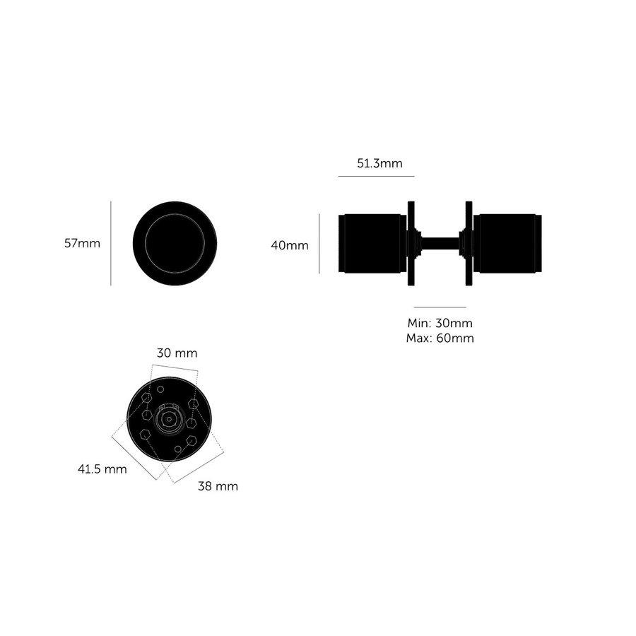 Deurknop / Linear/ Welders Black