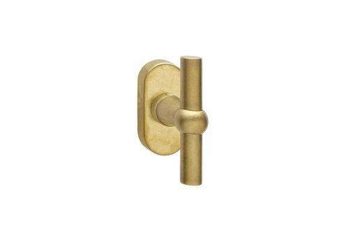 Intersteel Window handle T-model brass tumbled