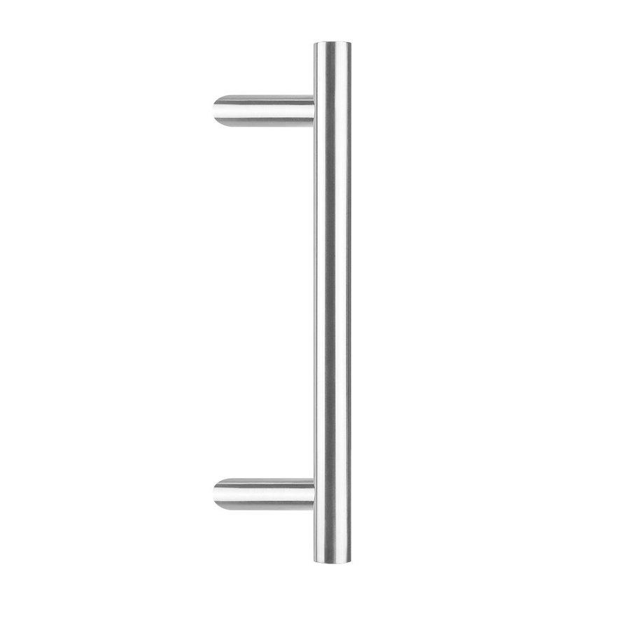RVS voordeurgreep T-schuin 30/900/1200 - éénzijdige bevestiging