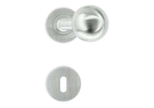 RVS deurklinken/deurknoppen BS Shape 50 mm met BB